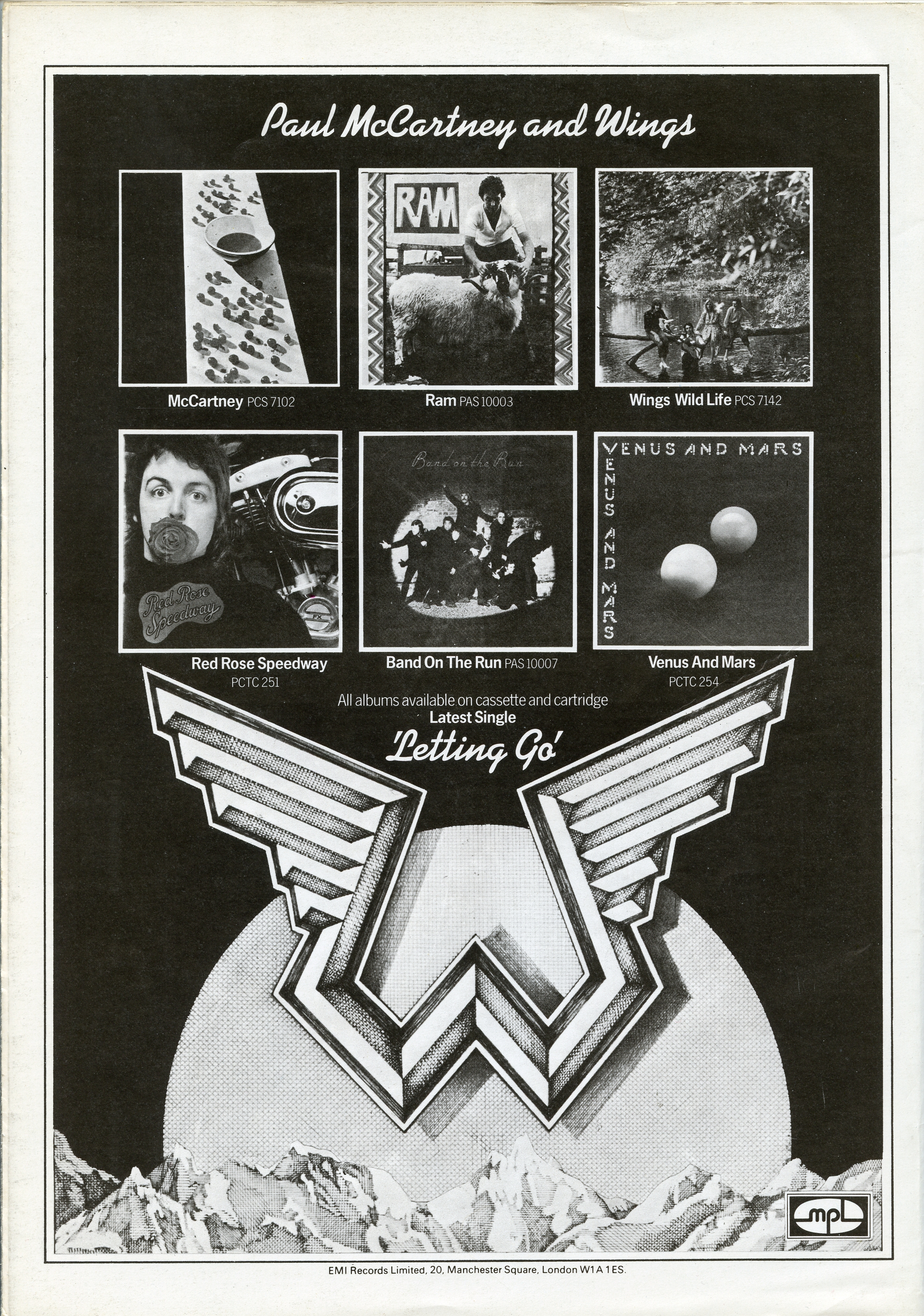 Wings Over Europe '72 & 75 Tour Booklets | The Old Grey Cat
